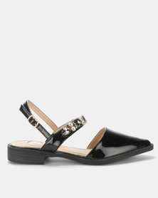 Footwork Claire Jewel Flat Black