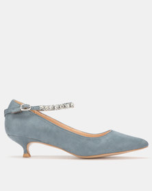 Footwork Sindi Kitten Heel Teal