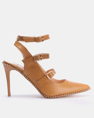 e93cd7b2b629 Footwork Clarissa Heels Tan