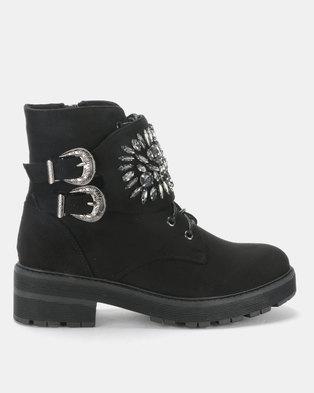 13a5d91bdaac Footwork Sabreena Ankle Boot Black