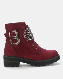 Footwork  Sabreena Ankle Boot Burgundy