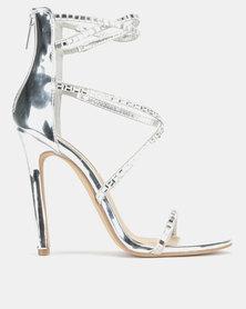 Steve Madden Bringit Heels Silver Multi