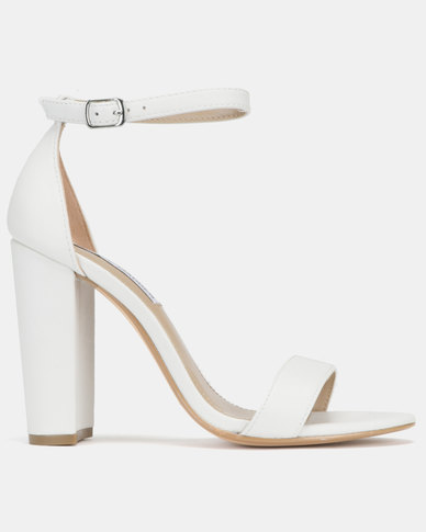 Madden Steve Carrson White Leather Heels SLGqUjzpMV