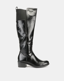 Pierre Cardin Elastic Gusset Riding Boots Black