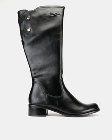 Pierre Cardin Basic Riding Boots Black