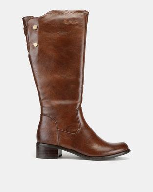 301d44e68b828 Pierre Cardin Basic Riding Boots Brown