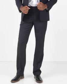 JCrew Fancy Flat Front Trousers Navy