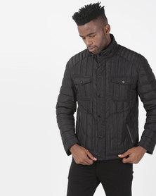 JCrew Quilted  Jacket Black