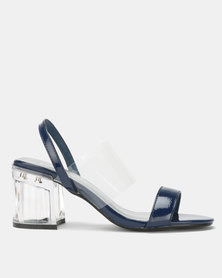 Queenspark Translucent Slingback On Glass Navy