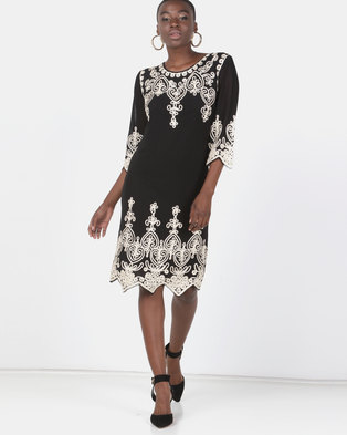Queenspark Princess Cornelli Knit Dress Black