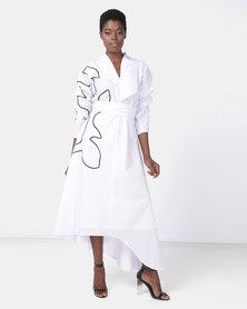 Judith Atelier Rosa Corded Cotton Dress White