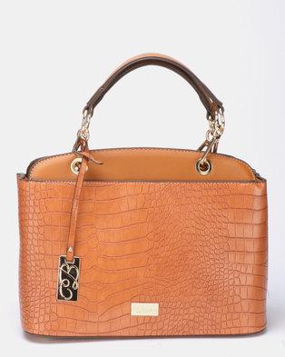 Miss Black Adora Handbag  Tan
