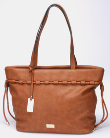 Miss Black Manhattan Tote Bag Tan