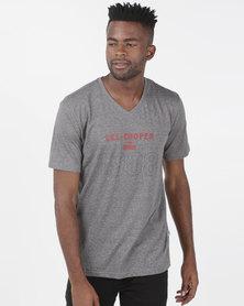 Lee Cooper M Ethan Logo T-Shirt Charcoal Grindle