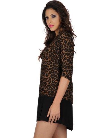d391df95ba7c Motel Rocks Lyne Dress Leopard Print | Zando