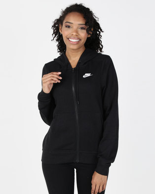 0dab48f1f589 Nike W NSW FZ Fleece Hoodie Black
