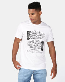 Lee Hand Story T-Shirt White