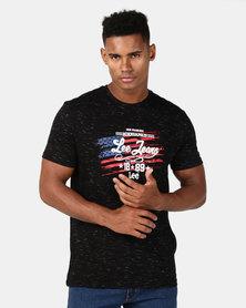 Lee American T-Shirt Black Slub