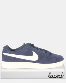 e75a744238 Nike Court Royale Suede Sneakers Midnight Navy/White