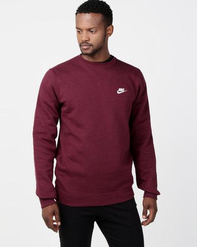 1652cd5bb Nike M NSW Club Crew BB Sweatshirt Red | Zando