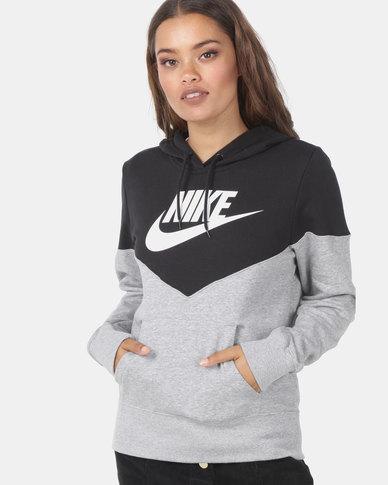 NIKE W NSW HRTG Hoodie fleece Grey