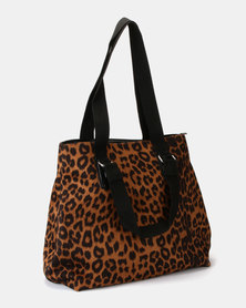 UB Creative Animal Print Handbag Orange
