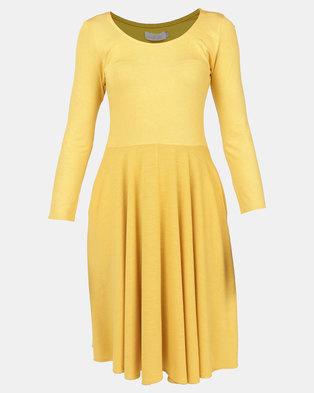 Nucleus Dance Dress Mustard  9c100a917