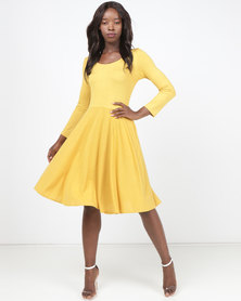 Nucleus Dance Dress Mustard