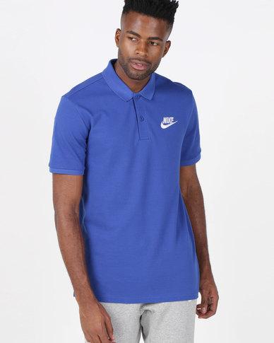 eab22b858c0d4 Nike M NSW CE Polo Matchup Pique Tee Blue