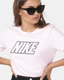 Nike W NSW Sport Distort Statement Tee Pink