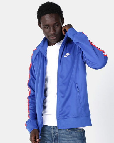 fe61f9a9f0459 Nike M NSW Tribute N98 Jacket Blue | Zando