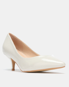 e8a0bb33861 Gino Paoli Microfibre Kitten Heel with Bow Detail Nude