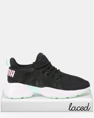 Puma Sportstyle Core Sirena Trailblazer Sneakers Black Fair Aqua 4785673fd