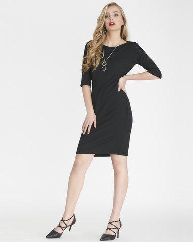 Contempo Envelope Dress Black