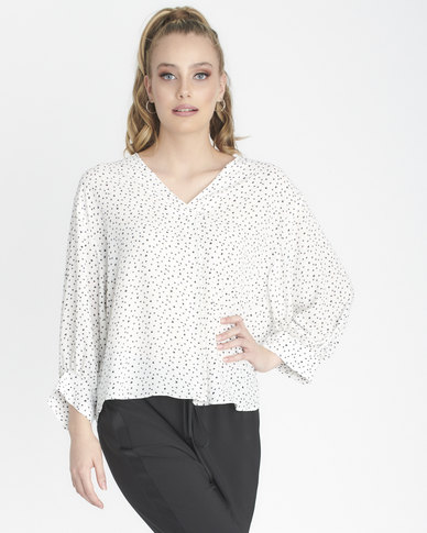 Contempo Ditsty Top Cream