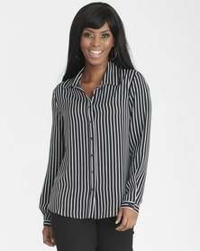 Contempo Workwear Shirt Black/White