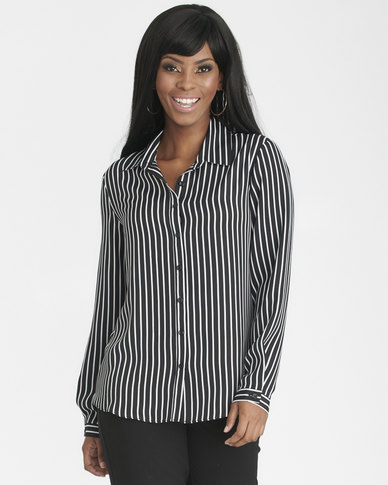 Contempo Workwear Shirt Black/White