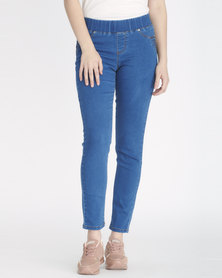 Contempo Denim Jeggings Lt Blue