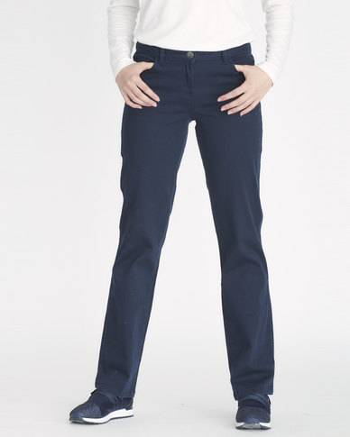 Contempo 5 Pocket Trousers Navy