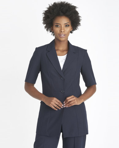 Contempo City Short Sleeve Jacket Navy