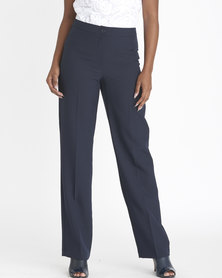 Contempo City Curved Wide Bottom Pants Navy