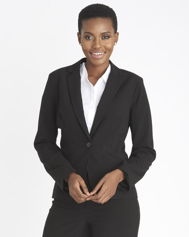 Contempo 2 Way Long Sleeve Jacket Black