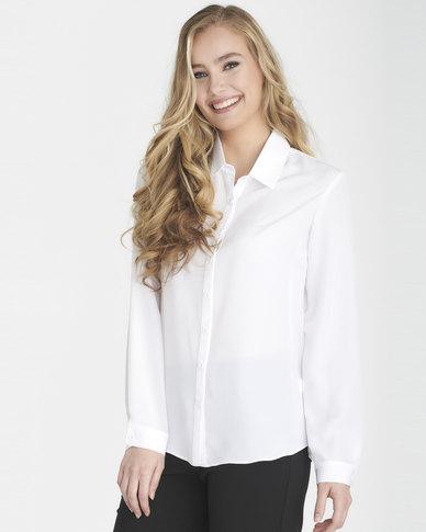 Contempo Workwear Shirt Opt White