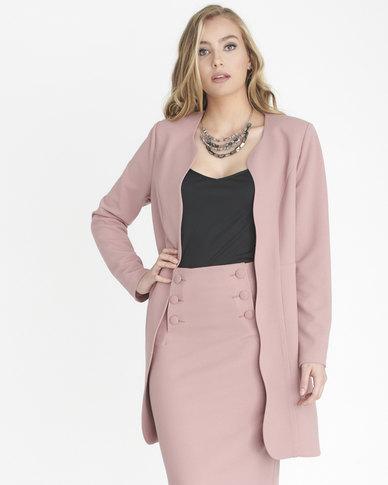 9ffe9b7f9aa08 Contempo Fashion Jacket Pink   Zando