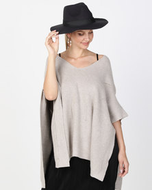G Couture V-Neck Jumper Taupe Melange