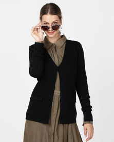 G Couture Knit Blazer Black