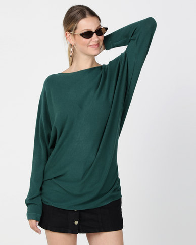 G Couture Crew Neck Jumper Green