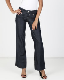 Vero Moda Flex Loose Jeans Dark Blue Denim