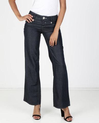 Vero Moda Flex Loose Jeans Dark Blue Denim