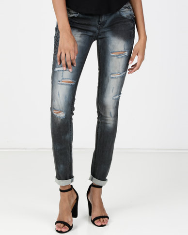 Vero Moda Zora Slim Jeans Dark Blue Denim